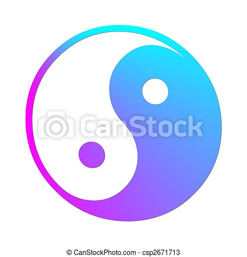 Illustration Of A Colorful Ying And Yang Symbol