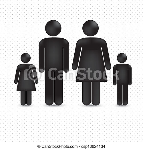 Illustration of a family  - csp10824134