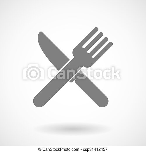Illustration of a knife and a fork - csp31412457