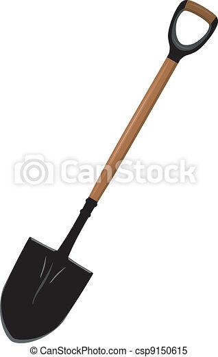 Illustration of a shovel - csp9150615