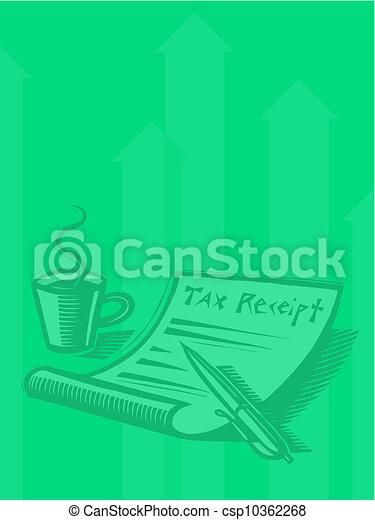 Illustration of a tax receipt - csp10362268
