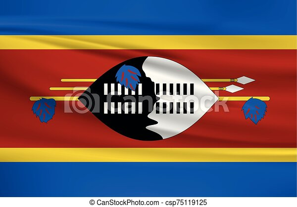 Illustration of a waving flag of the Swaziland - csp75119125