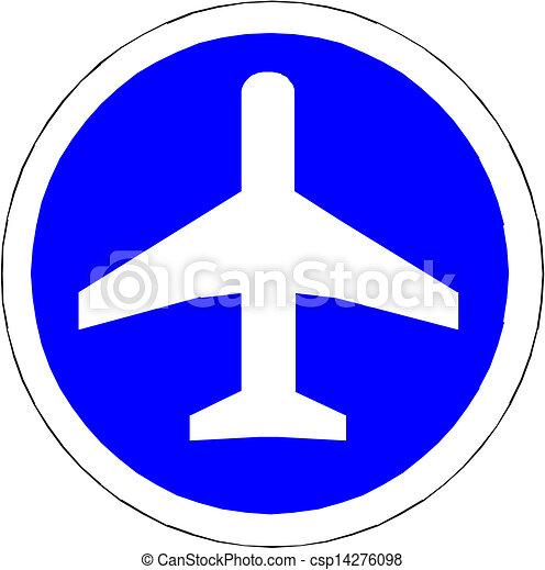 Illustration of airplane icon - csp14276098