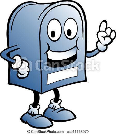 illustration of an blue Mailbox - csp11163970