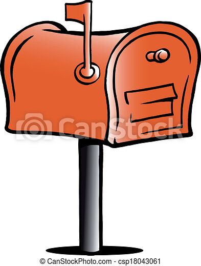 hand drawn vector illustration of an mailbox clip art vector rh canstockphoto com clipart mailbox free mailbox clipart black and white
