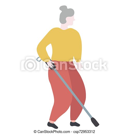 Blind Lady Clip Art