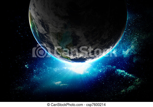 illustration of beautiful planet in space - csp7600214