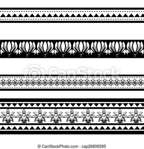 Illustration Of Black Polynesian Armband Tattoo Isoalted On White