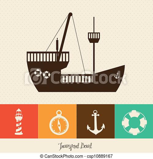 Illustration of boat - csp10889167