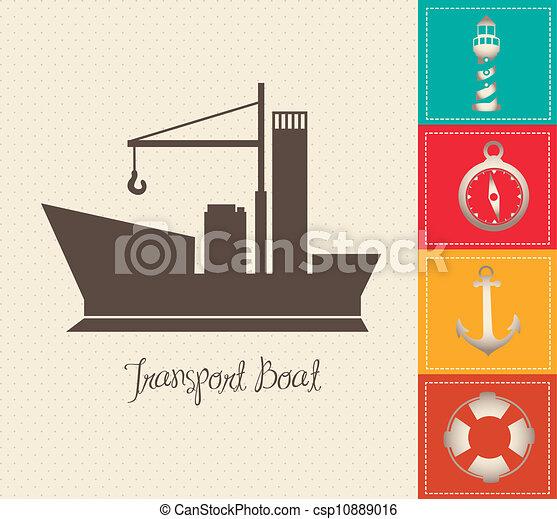 Illustration of boat - csp10889016