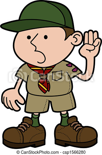 illustration of boy scout giving pledge vector clipart search rh canstockphoto com boy scout rank clipart boy scout emblems clipart