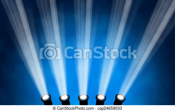 illustration of bright stage spotlight - csp24659033