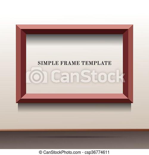 illustration of brown frame template - csp36774611