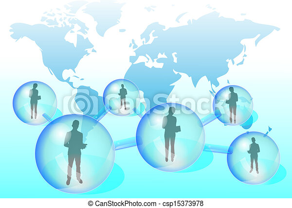 Illustration of business people wit - csp15373978