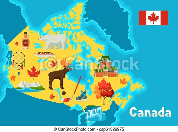 Free Map Of Canada.Illustration Of Canada Map