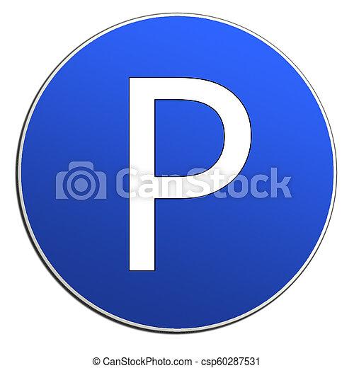 Illustration of cars parking sign - csp60287531