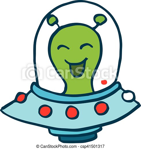 illustration of cartoon alien drive ufo design for kids spaceship clip art with tail spaceship clip art black and white