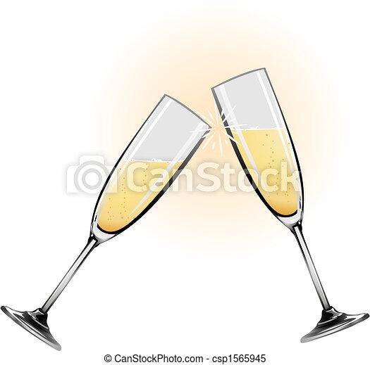 Illustration of champagne glasses - csp1565945