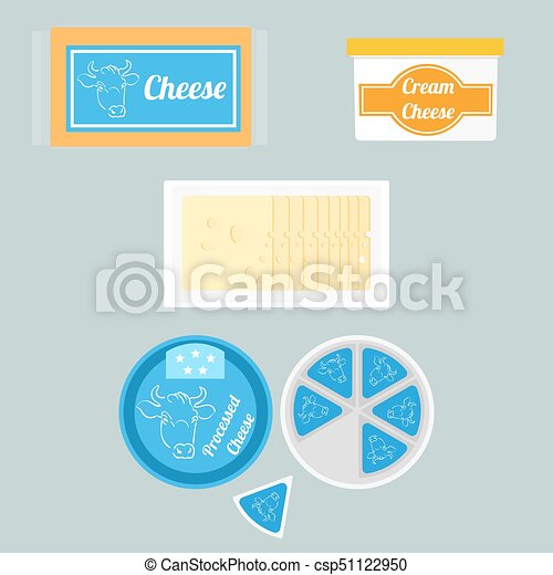 Illustration of cheese in the package - csp51122950