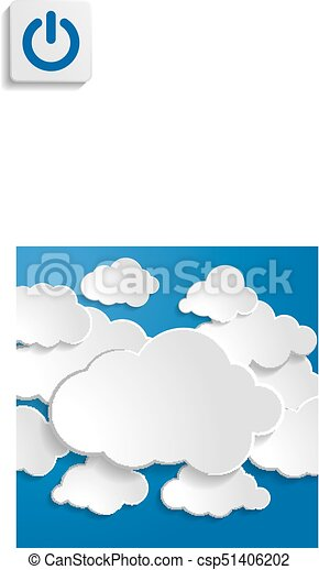 illustration of clouds on a blue background - csp51406202