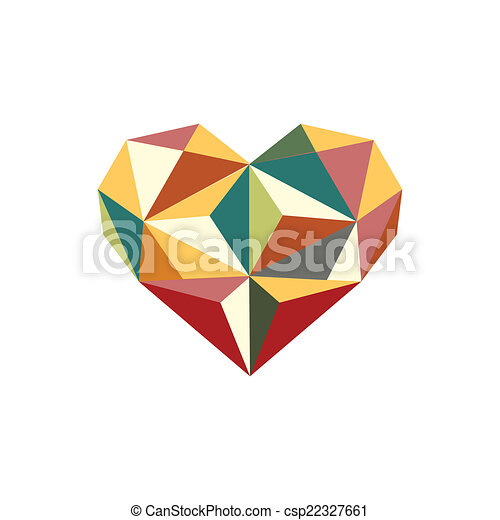 Illustration Of Colorful Origami Heart