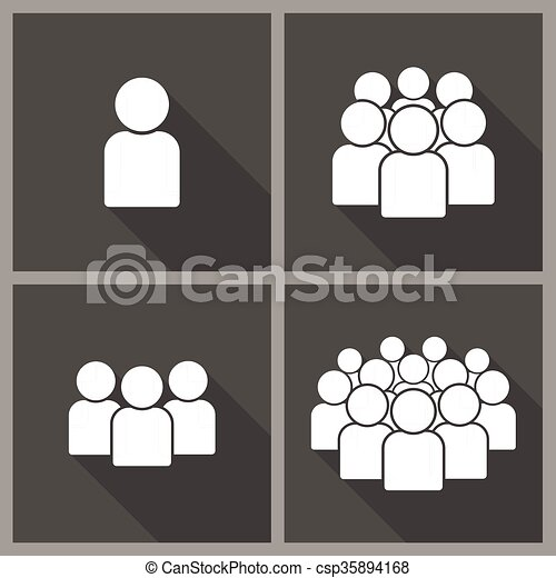 Illustration of crowd of people - csp35894168