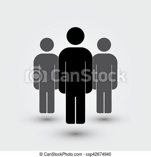 Illustration of crowd  people - csp42674940
