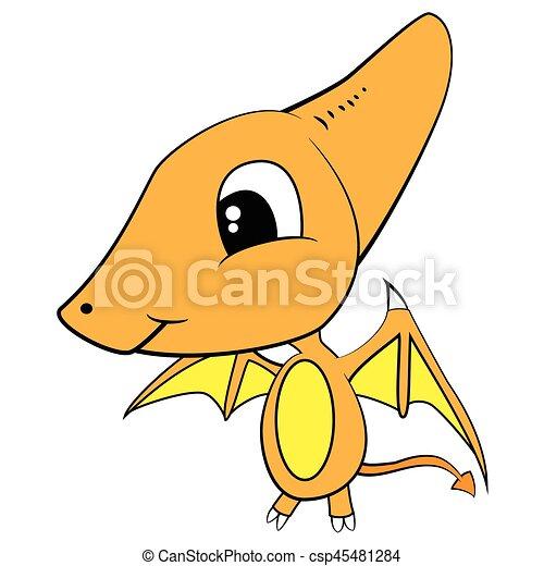 illustration of cute cartoon of baby pterodactyl dinosaur vector rh canstockphoto com