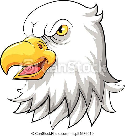 illustration of Eagle head mascot - csp84576019