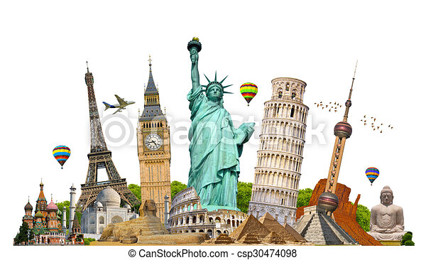 Illustration of famous monument of the world - csp30474098
