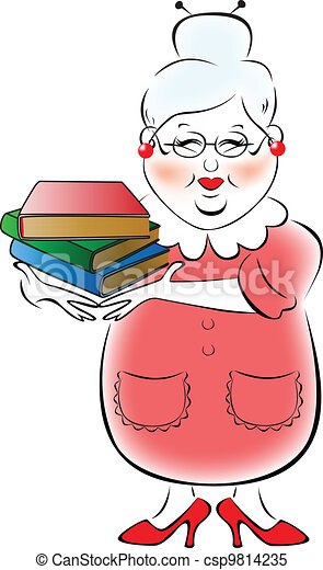 illustration of female librarian with a stack of books in their hands rh canstockphoto com library clip art free library clipart black and white