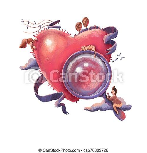 illustration of Find love for Valentine's day - csp76803726