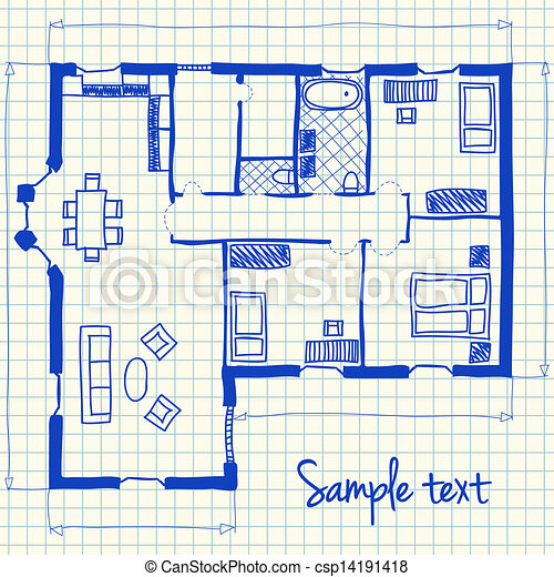 Free blueprint drawing clip art worksheet coloring pages illustration of floor plan doodle on school squared paper vector rolled blueprint clip art free blueprint drawing clip art malvernweather Images
