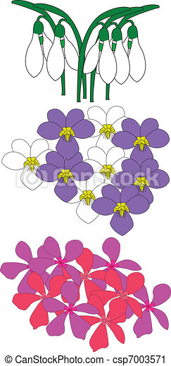 Illustration of flowers - csp7003571
