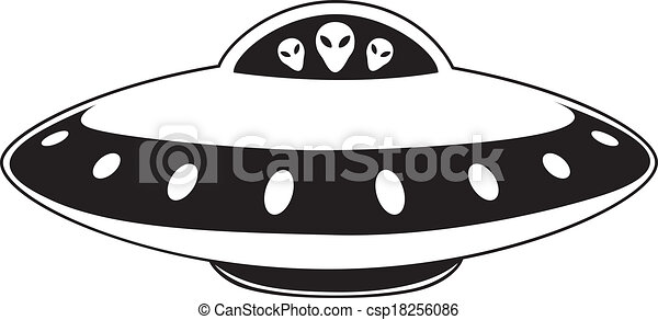 abstract elemental vector illustration of flying saucer vector rh canstockphoto ca Cup and Saucer Clip Art flying saucers clip art