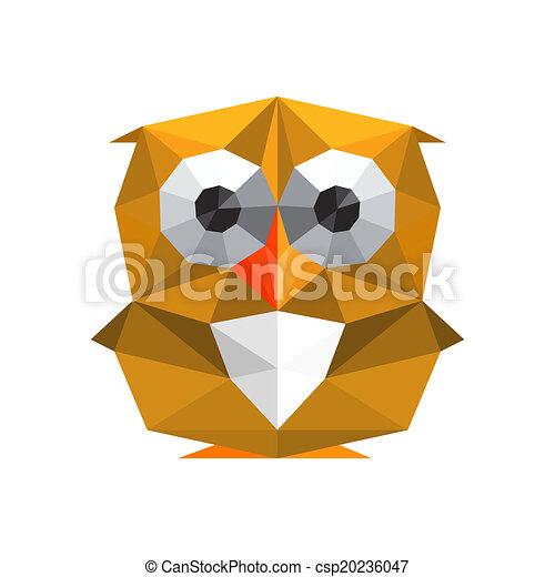 Illustration of funny origami owl isolated on white ...   450 x 470 jpeg 39kB