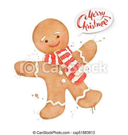 Illustration Of Gingerbread Man