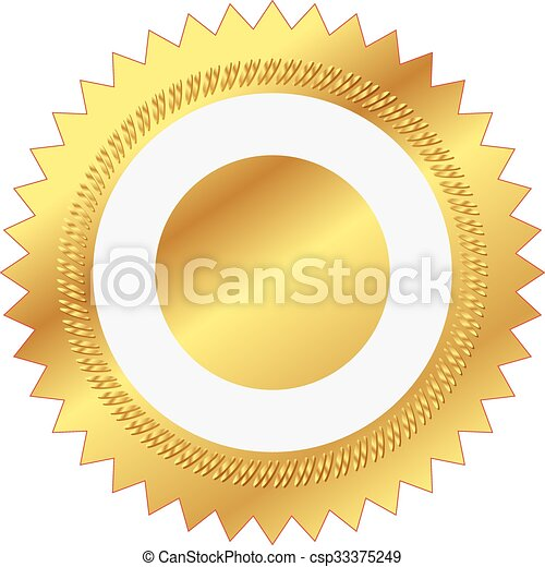 illustration of gold seal - csp33375249