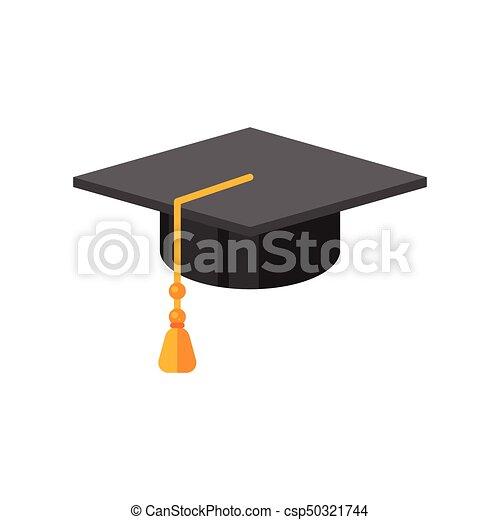 vector flat style illustration of graduation cap icon for eps rh canstockphoto com graduation cap vector clipart graduation cap vector download