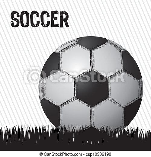 illustration of grunge soccer ball  - csp10306190