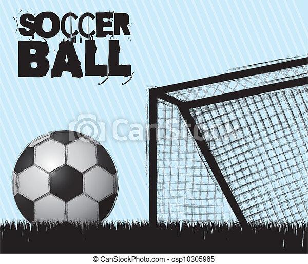 illustration of grunge soccer ball - csp10305985