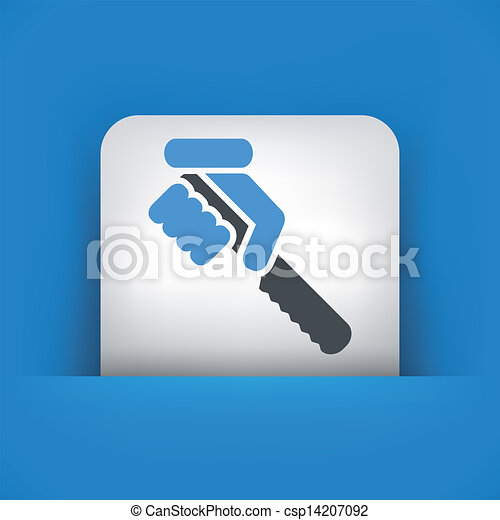 Illustration of hand holding a knife - csp14207092
