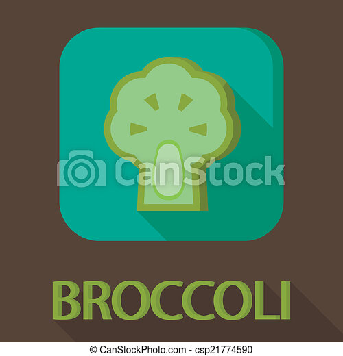 illustration of healthy food in flat design with long shadow - csp21774590