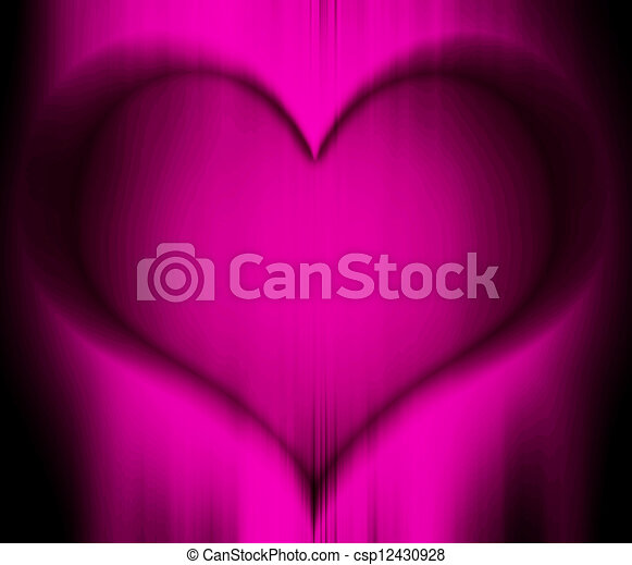 Illustration of heart carved in woo - csp12430928