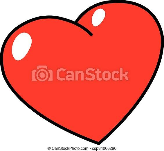 illustration of heart shape rh canstockphoto com heart shape vector free heart shape vector free download