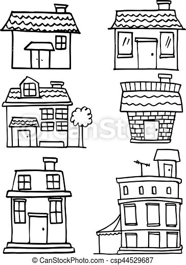Illustration of house hand draw - csp44529687