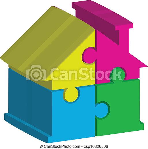 illustration of house - csp10326506