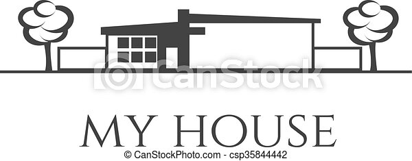 Illustration of house. Vector - csp35844442