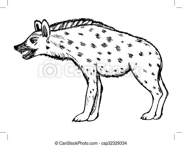 illustration of hyena wildlife nature animal
