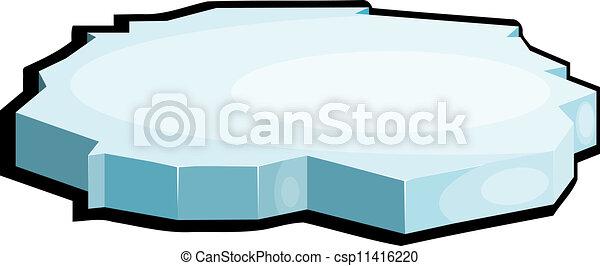 Illustration of ice. eps10 - csp11416220